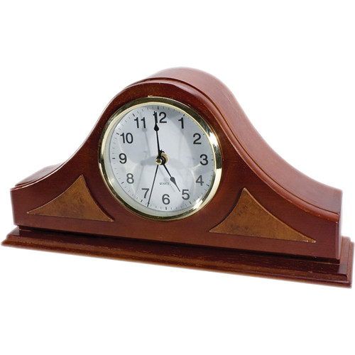 KJB Security Products SleuthGear Xtreme Life Mantel Clock with Hidden Color Camera