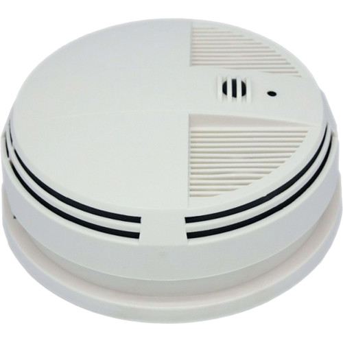 KJB Security Products Xtreme Life Smoke Detector with 4K UHD Covert Camera & DVR (Side View)