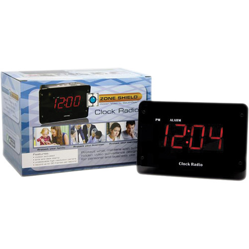 KJB Security Products SC9009CP Sleuthgear Zone Shield Clock Radio Covert Color Camera with DVR