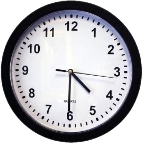 KJB Security Products Zone Shield 4K Wall Clock with Covert Camera & DVR