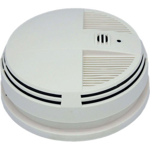 KJB Security Products Zone Shield 4K Night Vision Smoke Detector with Covert Camera & DVR (Side View)