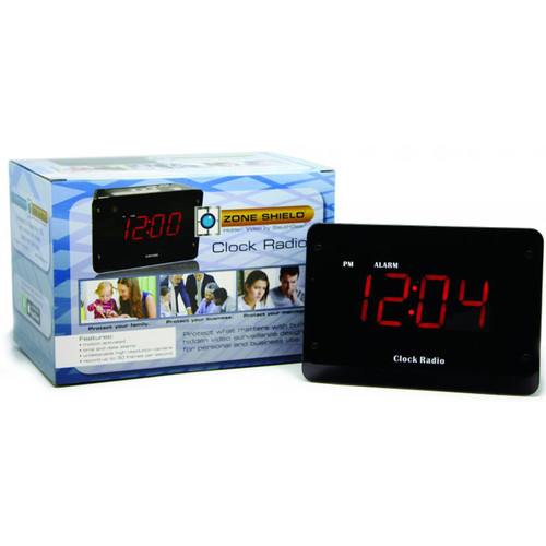 KJB Security Products SG Home Electric Clock Radio with Covert Night Wi-Fi Camera & DVR