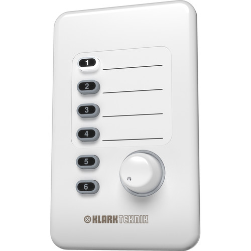 Klark Teknik CP8000UL Volume and Source Selection Wall Plate Remote Control for DM8000 Audio Processor