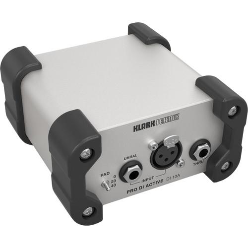 Klark Teknik DI10A Active DI Box with Midas Transformer and Phantom/Battery Operation