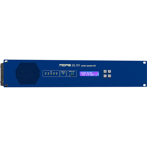 Midas DL151 - 24-Input Stagebox with MIDAS Mic Preamps and Dual-Redundant AES50 Networking