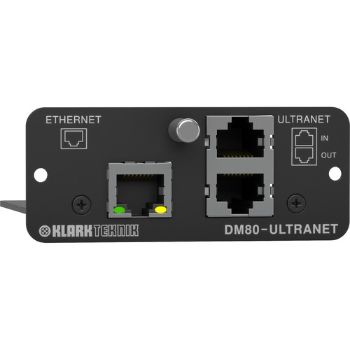 Klark Teknik Ultranet Expansion Module with 16x16 Channel Audio Networking and Ethernet