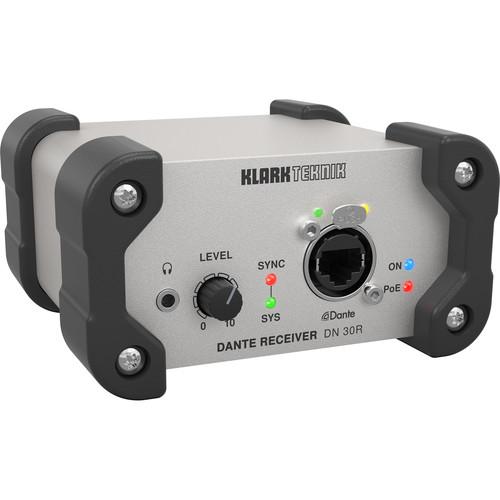 Klark Teknik DN 30R 2-Channel Dante Audio Receiver with Stereo XLR Outputs