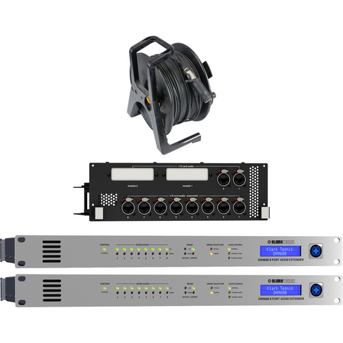 Klark Teknik Neutron NB Bundle with Two DN9680 8-Port AES50 Extender, Network Bridge Module and Fibre-150M Multimode Fiber Cable