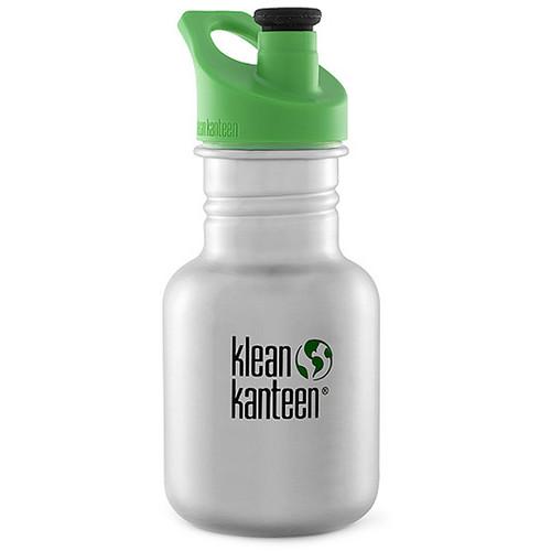 Klean Kanteen Kid Kanteen Water Bottle (12 fl oz, Brushed Stainless, Sport Cap)
