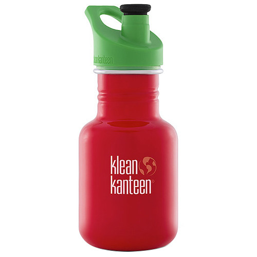 Klean Kanteen Kid Kanteen Water Bottle (12 fl oz, Farm House, Sport Cap)