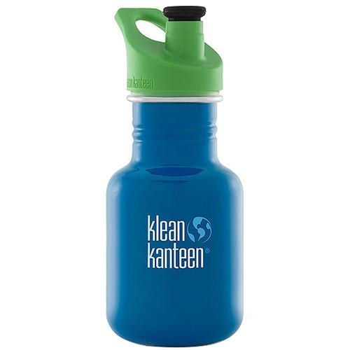 Klean Kanteen Kid Kanteen Water Bottle (12 fl oz, Sky Diver, Sport Cap)