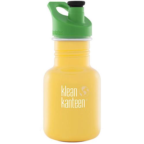 Klean Kanteen Kid Kanteen Water Bottle (12 fl oz, School Bus, Sport Cap)