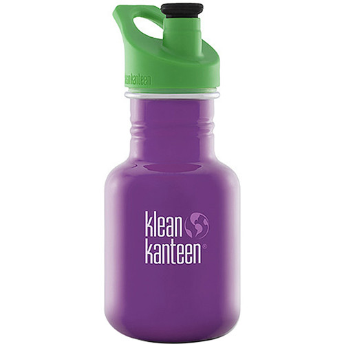 Klean Kanteen Kid Kanteen Water Bottle (12 fl oz, Sugar Plum, Sport Cap)