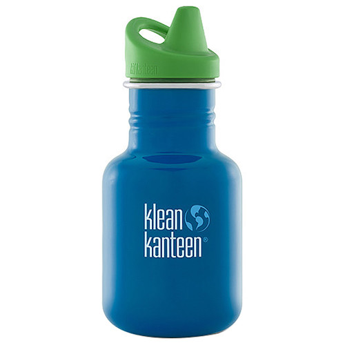 Klean Kanteen Kid Kanteen Water Bottle 12 oz (Sky Diver, Sippy Cap)