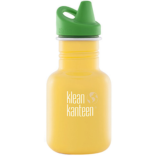 Klean Kanteen Kid Kanteen Water Bottle (12 fl oz, School Bus, Sippy Cap)