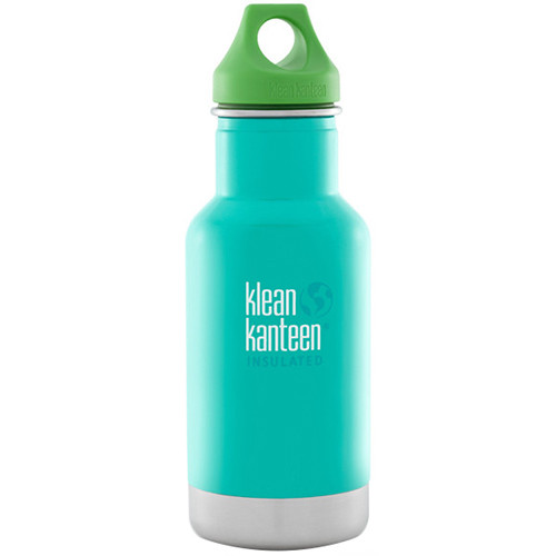 Klean Kanteen Vacuum Insulated Kid Classic (12 fl oz, Tidal Pool, Loop Cap)