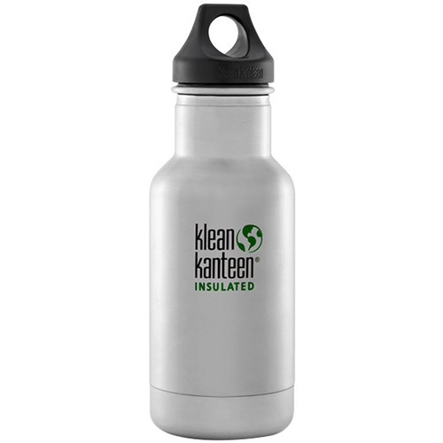 Klean Kanteen Vacuum Insulated Classic Water Bottle (12 fl oz, Brushed Stainless)