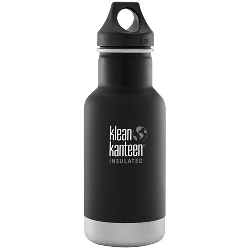 Klean Kanteen Vacuum Insulated Classic Water Bottle (12 fl oz, Shale Black)