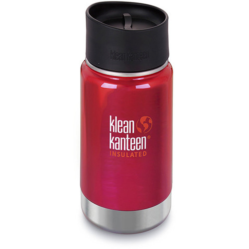 Klean Kanteen Vacuum Insulated Wide 12 oz Water Bottle with Cafe Cap (Roasted Pepper)