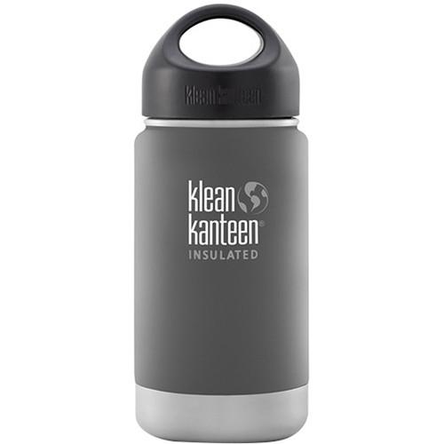 Klean Kanteen Vacuum Insulated Wide Water Bottle with Loop Cap (12 fl oz, Granite Peak)