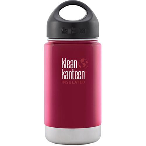 Klean Kanteen Vacuum Insulated Wide 12 oz Water Bottle with Loop Cap (Roasted Pepper)