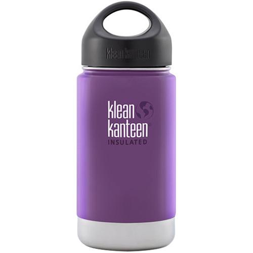 Klean Kanteen Vacuum Insulated Wide 12 oz Water Bottle with Loop Cap (Wild Grape)