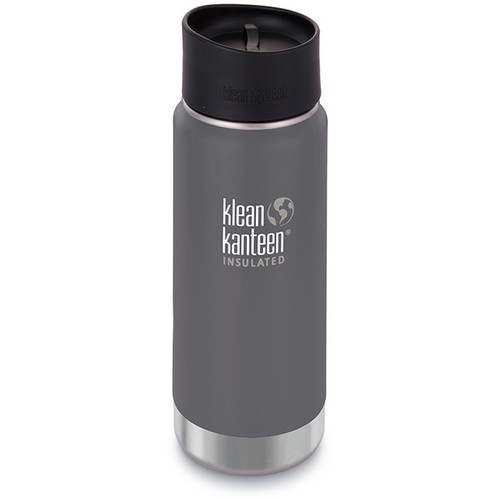Klean Kanteen Insulated Wide Travel Mug with Cafe Cap 2.0 (16 fl oz, Granite Peak)