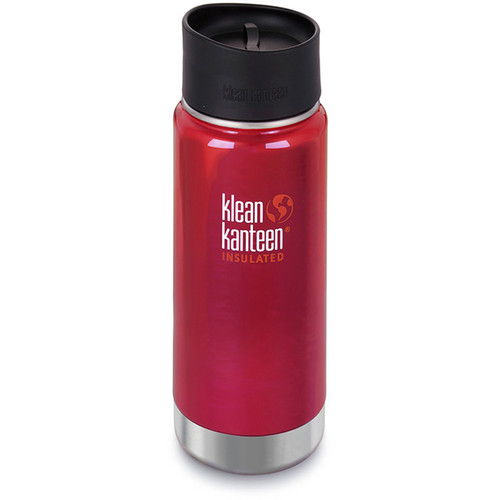 Klean Kanteen Insulated Wide Travel Mug with Cafe Cap 2.0 (16 fl oz, Roasted Pepper)