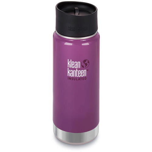 Klean Kanteen Vacuum Insulated Wide 16 oz Water Bottle with Cafe Cap (Wild Grape)