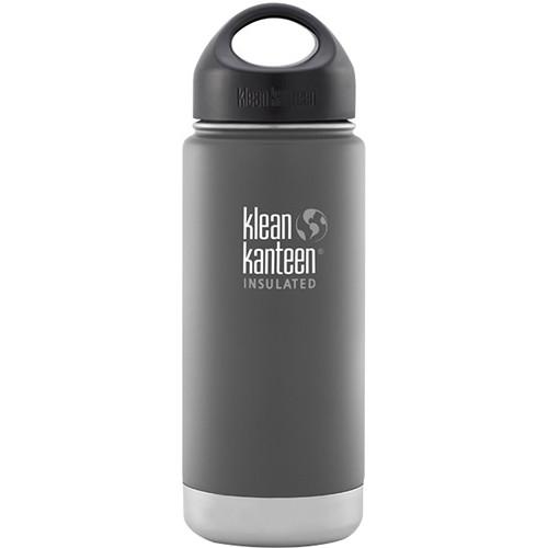 Klean Kanteen Vacuum Insulated Wide 16 oz Water Bottle with Loop Cap (Granite Peak)