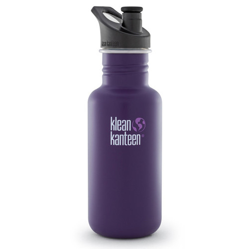 Klean Kanteen Classic Stainless Steel Water Bottle with Sport Cap (18 fl oz, Berry Syrup)