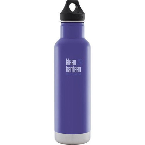 Klean Kanteen Vacuum Insulated Classic Water Bottle (20 fl oz, Blooming Iris)