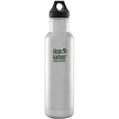 Klean Kanteen Vacuum Insulated Classic Water Bottle (20 fl oz, Brushed Stainless)