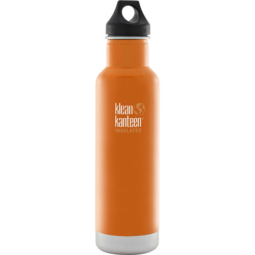 Klean Kanteen Vacuum Insulated Classic Water Bottle (20 fl oz, Canyon Orange)