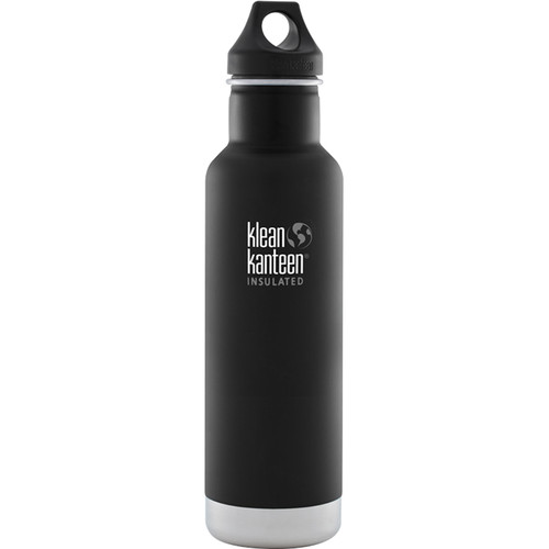 Klean Kanteen Vacuum Insulated Classic 20 oz Water Bottle (Shale Black)