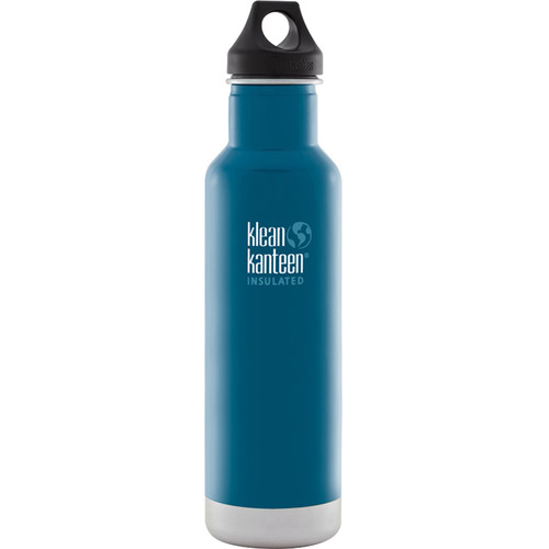 Klean Kanteen Vacuum Insulated Classic Water Bottle (20 fl oz, Winter Lake)