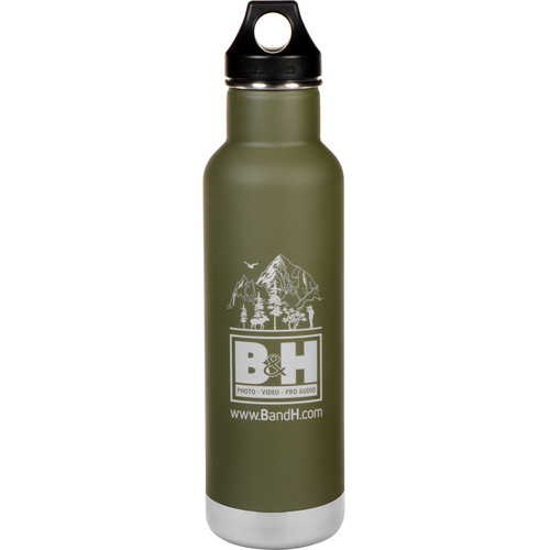 Klean Kanteen Vacuum Insulated Classic 20 oz Water Bottle (Fresh Pine w/Logo)