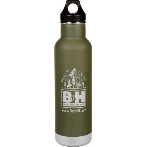 Klean Kanteen Vacuum Insulated Classic Water Bottle (20 fl oz, Fresh Pine w/Logo)