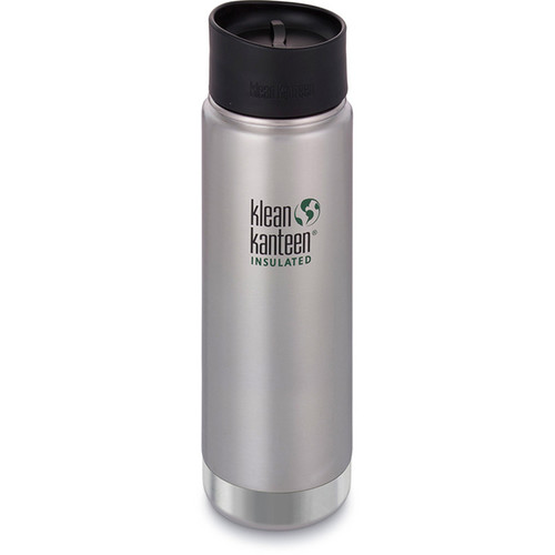 Klean Kanteen Insulated Wide Travel Mug with Cafe Cap 2.0 (20 fl oz, Brushed Stainless)