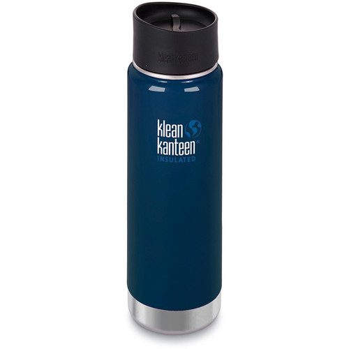 Klean Kanteen Insulated Wide Travel Mug with Cafe Cap 2.0 (20 fl oz, Deep Sea)