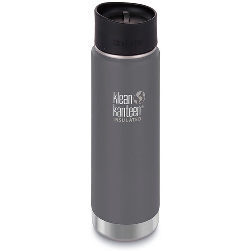 Klean Kanteen Vacuum Insulated Wide 20 oz Water Bottle with Cafe Cap (Granite Peak)