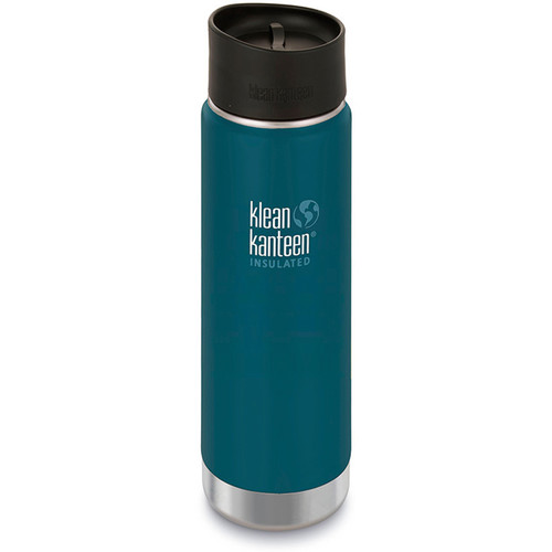Klean Kanteen Insulated Wide Travel Mug with Cafe Cap 2.0 (20 fl oz, Neptune Blue)