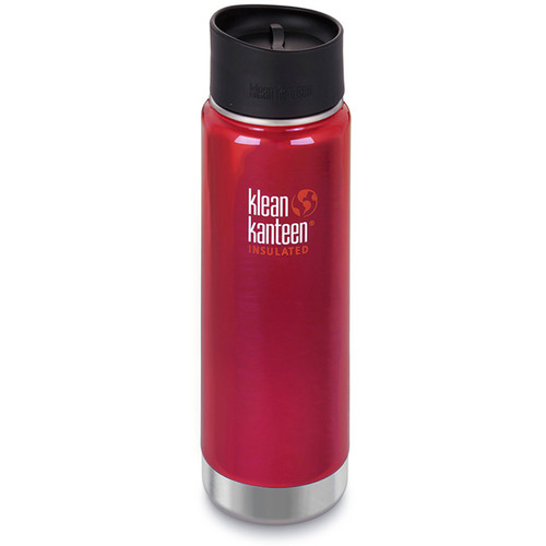 Klean Kanteen Insulated Wide Travel Mug with Cafe Cap 2.0 (20 fl oz, Roasted Pepper)