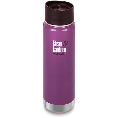 Klean Kanteen Insulated Wide Travel Mug with Cafe Cap 2.0 (20 fl oz, Wild Grape)
