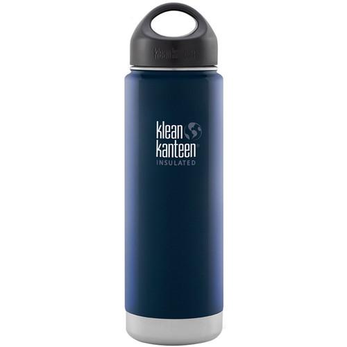 Klean Kanteen Vacuum Insulated Wide 20 oz Water Bottle with Loop Cap (Deep Sea)