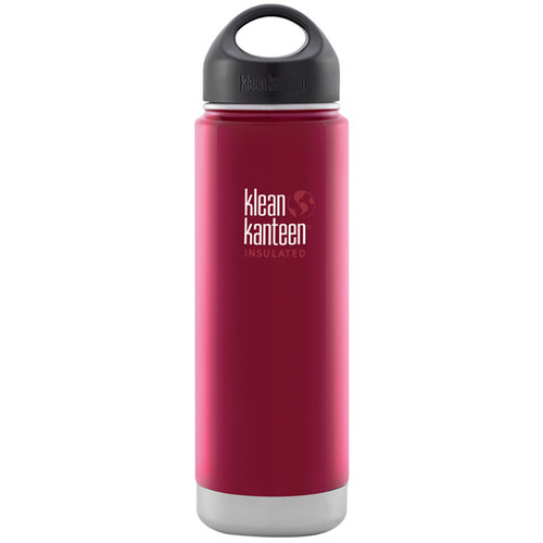 Klean Kanteen Vacuum Insulated Wide Water Bottle with Loop Cap (20 fl oz, Roasted Pepper)