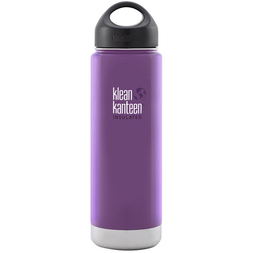 Klean Kanteen Vacuum Insulated Wide 20 oz Water Bottle with Loop Cap (Wild Grape)