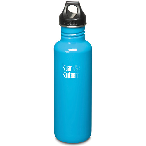 Klean Kanteen Classic Stainless Steel Water Bottle with Loop Cap (27 fl oz, Channel Island)
