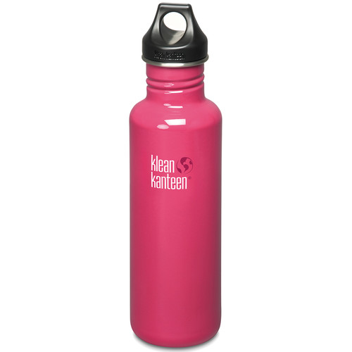 Klean Kanteen Classic Stainless Steel Water Bottle with Loop Cap (27 fl oz, Dragon Fruit)