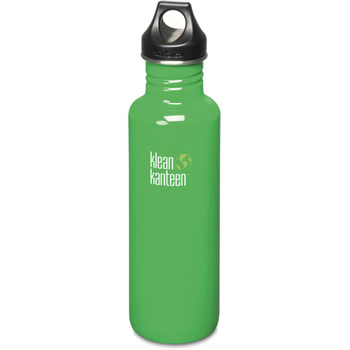 Klean Kanteen Classic Stainless Steel Water Bottle with Loop Cap (27 fl oz, Organic Garden)